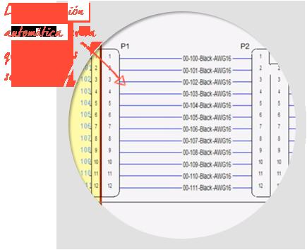 Software para Generar Esquemas Eléctricos, E3-schematic, auto-wire-numeración