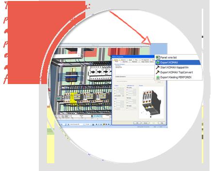Software de diseño eléctrico de paneles, E3-Panel, integrar-con-fabricación-equipos