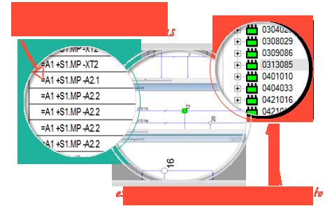 Software para Generar Esquemas Eléctricos, E3-schematic, Gestione los terminales entre hojas de forma más inteligente