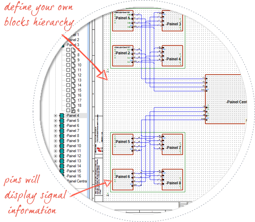 electrical-harness-design-software--E3-Cable-create-block-diagrams